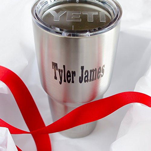 Personalized Authentic Tumbler with Name in Black by Kapp studio