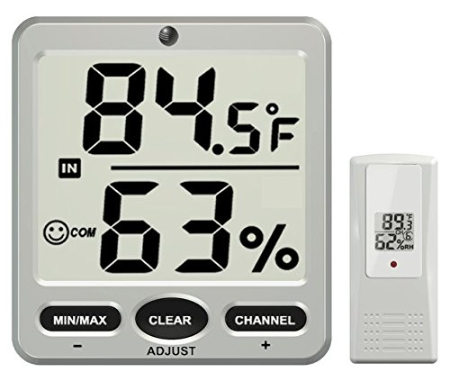 Ambient Weather WS-07-C Big Digit 8-Channel Wireless Thermo-Hygrometer Display Console
