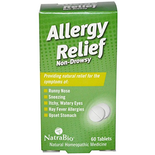 NatraBio, Allergy Relief, Non-Drowsy, 60 Tablets - - Relief Bio Non Drowsy Allergy Natra Tablets