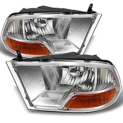 09-16 Ram 1500 10-16 Ram 2500 3500 Pickup Truck Headlights Front Lamps Direct Replacement Left+Right