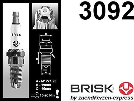 BRISK Premium Racing BOR12LGS 3092 Bujías de Encendido, 8 piezas: Amazon.es: Coche y moto