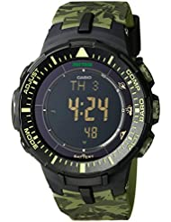 Casio Mens PRG-300CM-3CR Pro Trek Solar-Power Triple-Sensor Watch