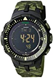 Casio Men's PRG-300CM-3CR Pro Trek Solar-Power Triple-Sensor Watch
