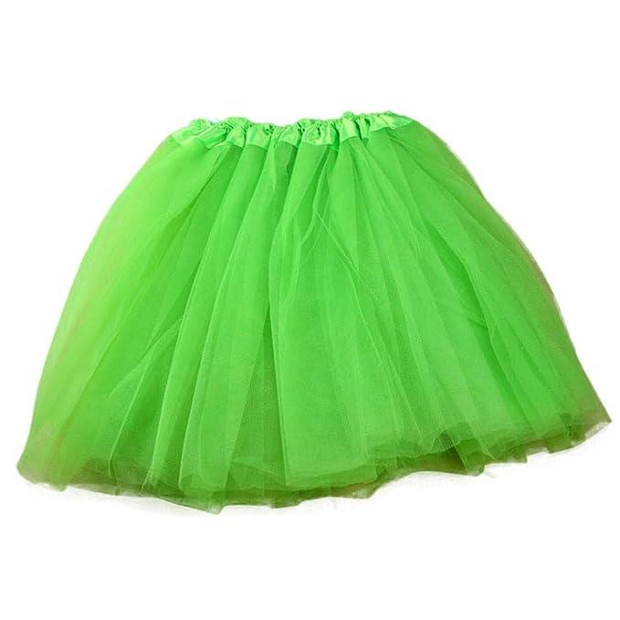 b35f67ab12def5 FRAUIT Damen Tutu Tüllrock Kurz Petticoat Unterrock Ballett Rock Tüll  Reifrock 1 STÜCK Hübsches Mädchen Elastische