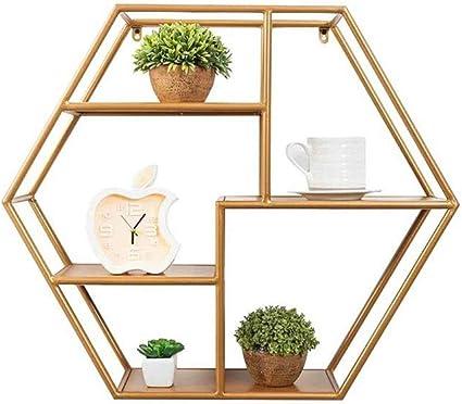Qilo Hexagonal de Metal Estantes Flotantes Multiuso de ...