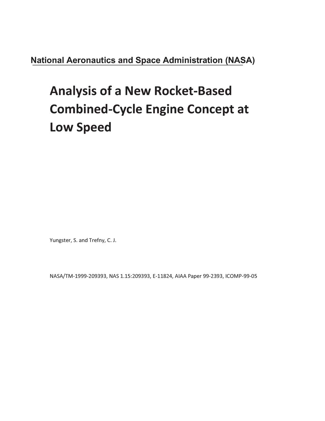 Analysis of a New Rocket-Based Combined-Cycle Engine Concept