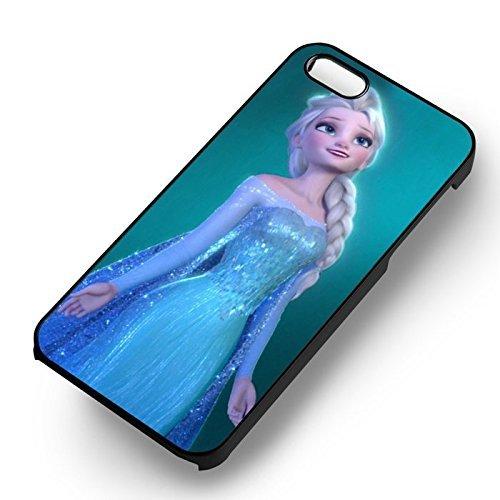 Chic Frozen Princess Elsa pour Coque Iphone 7 Case (Noir Boîtier en plastique dur) M2X2KD