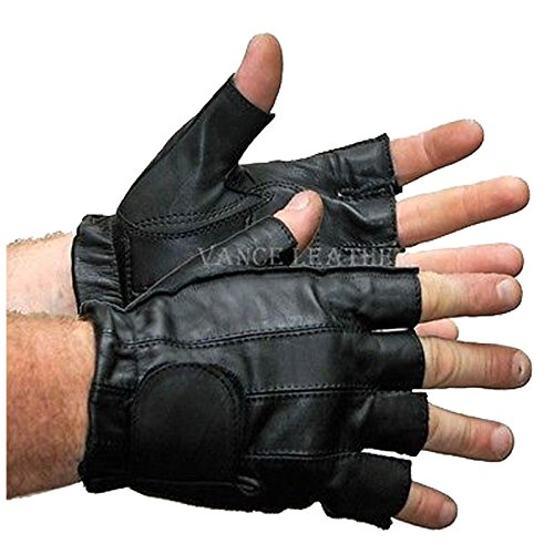 - MOTORCYCLE GLOVES SHORTY GLOVES UNISEX, RIDING GEL PALM,VELCRO ENCLOSURE(L)