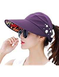 Sun Hats for Women Wide Brim Sun Hat UV Protection Caps Floppy Beach  Packable Visor 1cde32cd6bfb