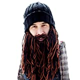 Beard Head Barbarian Roadie Beard Beanie -Funny Knit Hat and Fake Beard Facemask