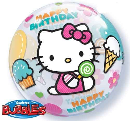 22 Hello Kitty Birthday Source Bubble Balloons By Single Party Supplies 467298