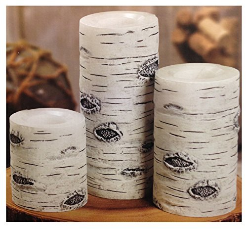 3 Flameless Led Wax Candles White Birch Enjoy Safe Candle...