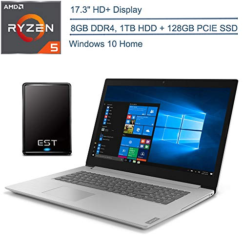 2020 Lenovo Ideapad 3 15 Laptop Computer_ 15.6″ FHD_ 10th Gen Intel Core i3-1005G1 Beat i5-7200U_ 8GB DDR4_ 256GB PCIe SSD_ Platinum Grey_ Windows 10_ BROAGE 64GB Flash Drive_ Online Class Ready