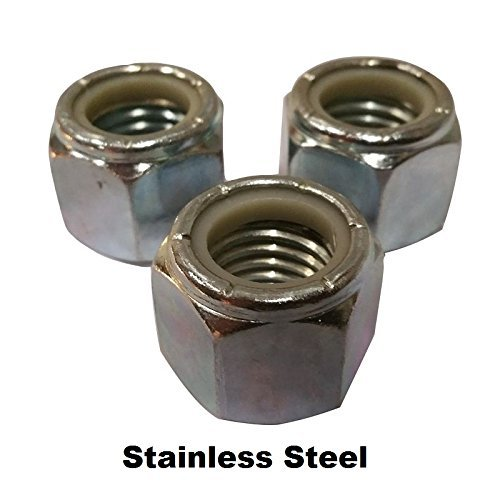 (Stainless Nylon Insert Lock Nuts 1/4