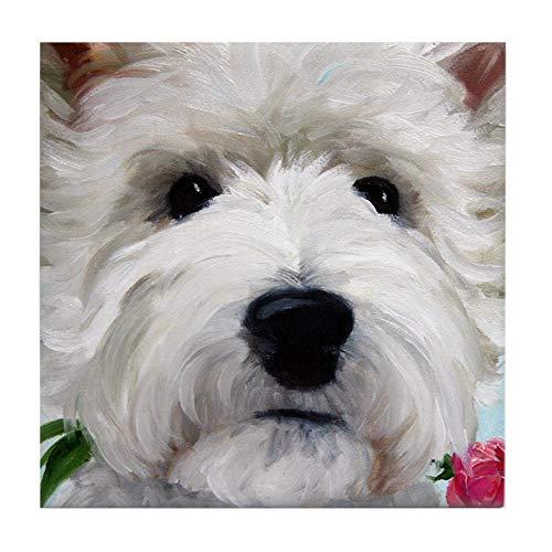(CafePress Westie Dog Tile Coaster, Drink Coaster, Small Trivet)