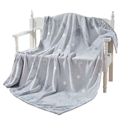 minous Star Shining Throw Blanket Light Grey 60