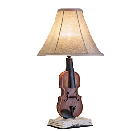 Lámpara de Mesa-Art Deco Resina Lámparas de Mesa Violín ...