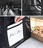 "New Star Foodservice 51155 Insulated Pizza Delivery Bag, 22"" by 22"" by 13"", Black"
