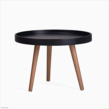 Great DQMSB Nordic Round Coffee Table White Black Personality Small Apartment  Round Several Modern Minimalist Solid Wood
