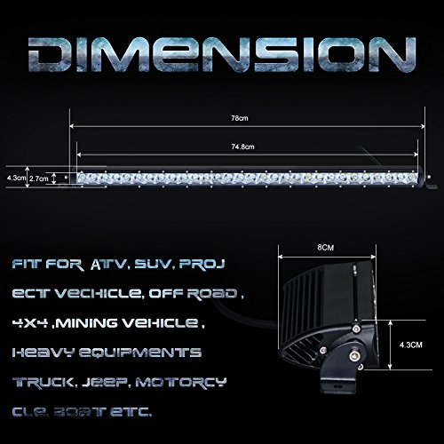 Nilight-Single-Row-LED-light-Bar-Spot-Flood-Combo-Off-Road-Driving-Light-bar-for-TruckJeepVehicle2-Years-Warranty