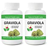 GRAVIOLA | 1000MG | 120 VEGGIE CAPS | ANTIOXIDANT ACETOGENINS | BUY MFG DIRECT - NATURAL HEALTH LABS SERVING PHYSICIANS & HEALTH PROFESSIONALS SINCE 2004