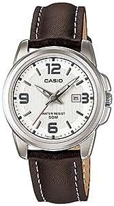 Casio LTP-1314L-7A - Reloj analógico de cuarzo para mujer, correa de cuero color marrón
