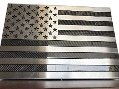 Metal Art of Wisconsin Carbon Fiber Freedom Cabinet Slider with Invisible RFID Lock and Key Cards (2 Foot Matte Black ()