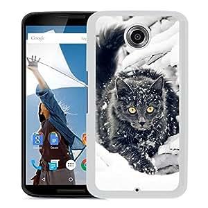 Black Cat In Snow (2) Google Nexus 6 Phone Case On Sale