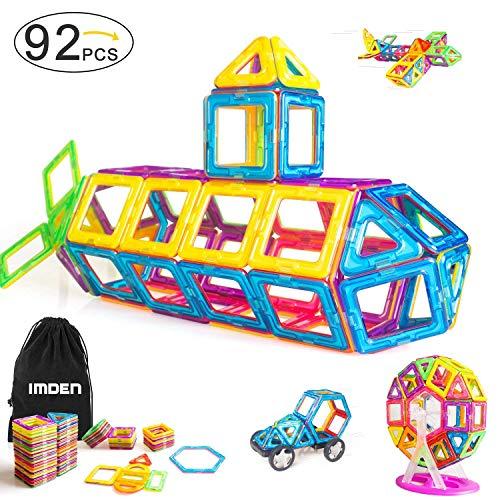 (IMDEN Magnetic Blocks, Magnetic Building Set, Magnetic Tiles, Educational Toys for Baby/Kids, 92)