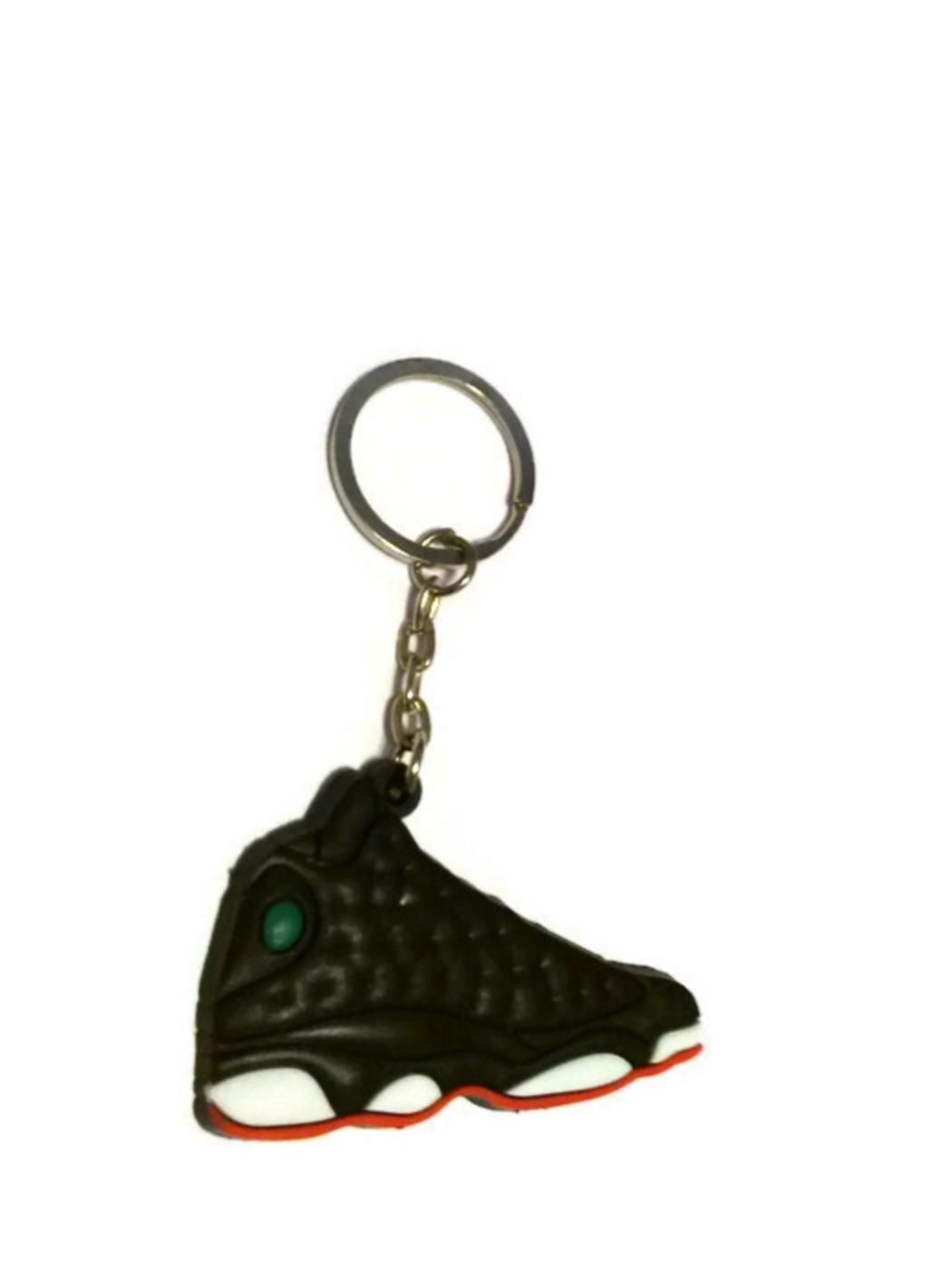 1 X Air Jordan Retro 13 Keychain (Black/White/Red)