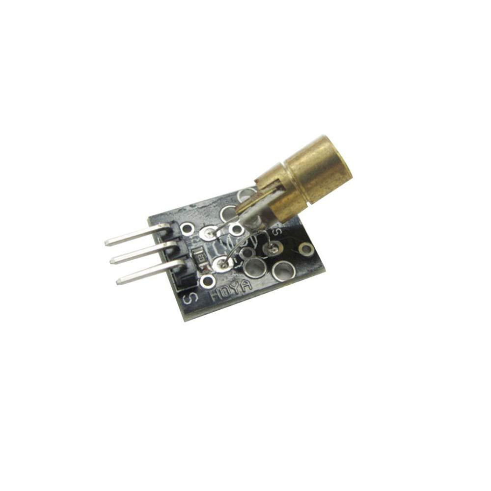 MFMYUANHAN 10 Unidades 5 V transmisor láser Sensor Módulo 6 mm 5 V 5 MW 650 NM Rojo Laser Dot Diodo Cabeza de Cobre para Arduino PIC AVR 2015 Nuevo