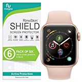 (6-Pack) Apple Watch 40mm Screen Protector (Series 4) RinoGear Case Friendly iWatch Screen Protector for Apple Watch Series 4 40mm Accessory Full Coverage Clear Film