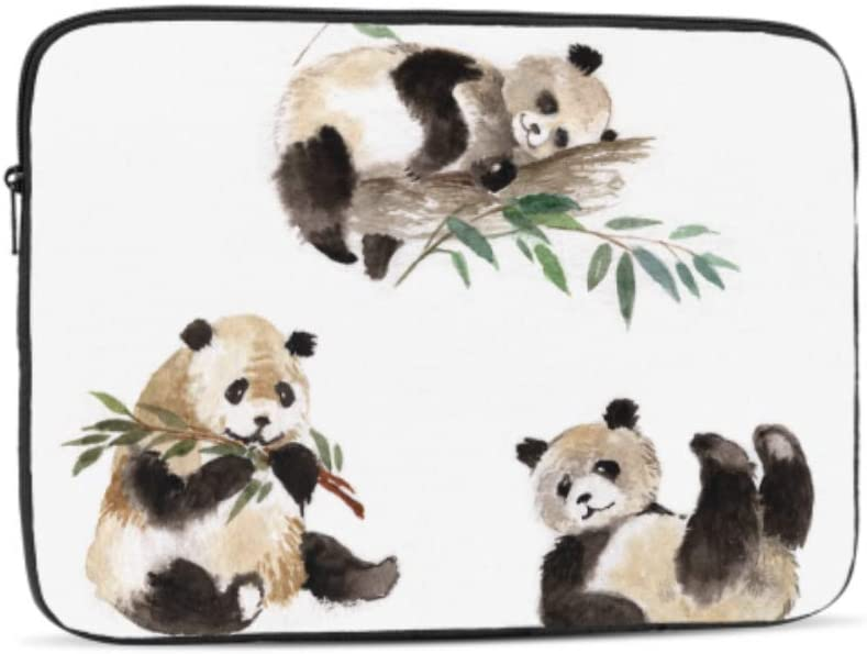 Chinese Lucky Giant Panda Pattern Neoprene Sleeve Pouch Case Bag for 11.6 Inch Laptop Computer Designed to Fit Any Laptop//Notebook//ultrabook//MacBook with Display Size 11.6 Inches