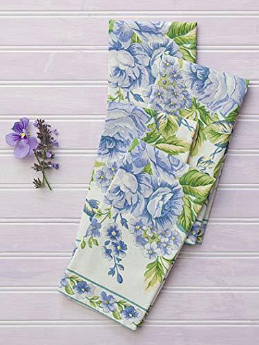 (April Cornell Vivian Ecru Floral Print 100% Cotton Napkins - Set of 4)