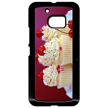 Carcasa HTC 10 Cupcakes cereza almendra: Amazon.es: Electrónica