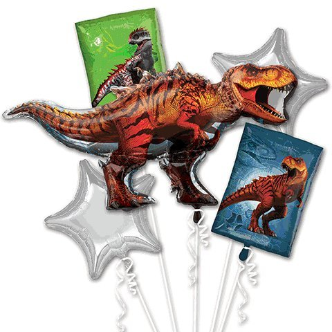 Jurassic World Dinosaur Bouquet Of (Dinosaur Party Balloon)