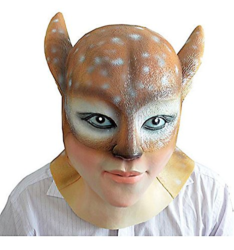 HLLWN Expresss, Demon Deer Head, Halloween Masquerade Latex Mask 2014 HLWMSK65