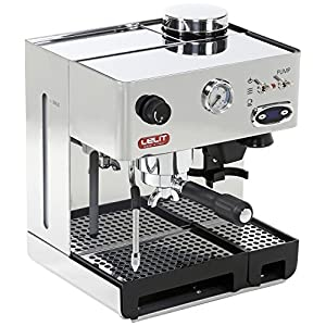 Lelit PL042TEMD Anita Macchina per Espresso Semiprofessionale, 1200 W, 2 Cups, Acciaio Inossidabile, Argento