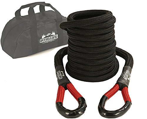 Best Review Of 20'x 1-1/4 Kinetic Recovery & Tow Rope, Black (52,300 lbs), for 4x4/Off-Roading/Jeep...