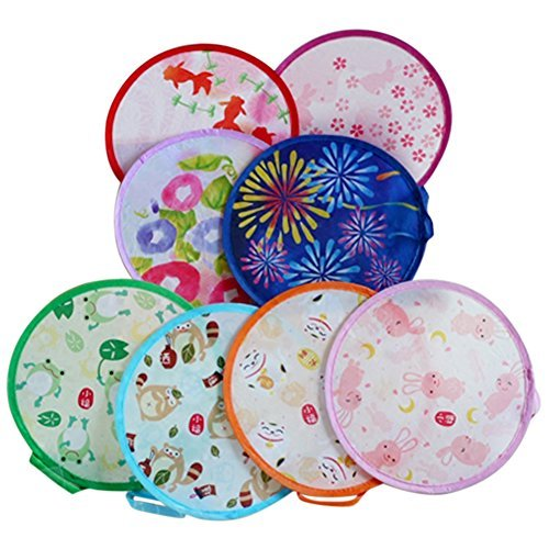 COCOTINA 1Pc Japanese Style Foldable Beautiful Pattern Handheld Folding Fans Random Delivery