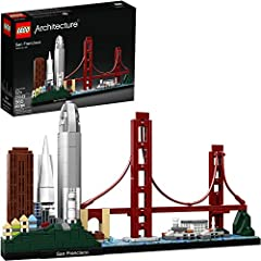 Recreate the magnificence of San Francisco architecture with this awesome 21043 LEGO Architecture San Francisco Skyline Collection model. This LEGO brick collectible features a selection of the city's iconic attractions and landmarks, includi...