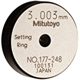 Mitutoyo 177-248 Setting Ring, 3mm Size, 7mm Width, 25mm Outside Diameter, Plus /-1.5Micrometer Accuracy