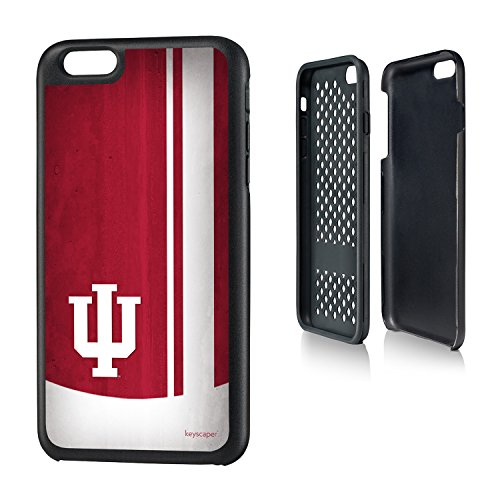 Indiana Hoosiers iPhone 6 Plus & iPhone 6s Plus Rugged Case officially licensed by Indiana University for the Apple iPhone 6 Plus by keyscaper® Durable Two Layer Protection Shock Absorbing