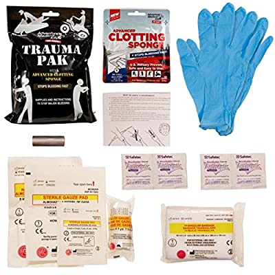 Adventure Medical Kits Trauma Pak with Advanced Clotting Sponge to Stop Bleeding Fast – Zeolite Hemostatic Dressing, Trauma Kit, Bleeding Control Kits, IFAK, Tactical Medical Kit, First Aid Kit by Adventure Medical Kits