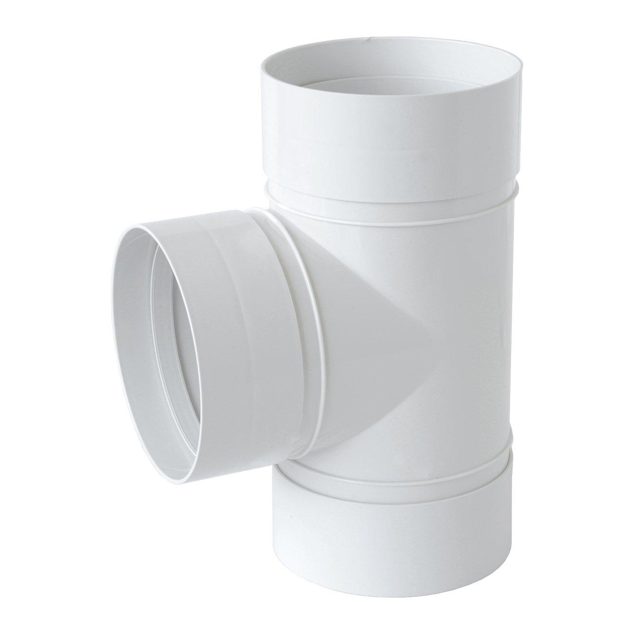 blanc La ventilation crt125b-y Raccord /à T en ABS pour a/ération canalis/ée 125/mm