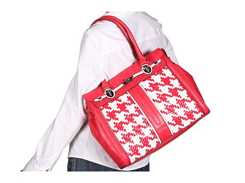GUESS Love Lock Satchel Red Multi by GUESS (Image #1)