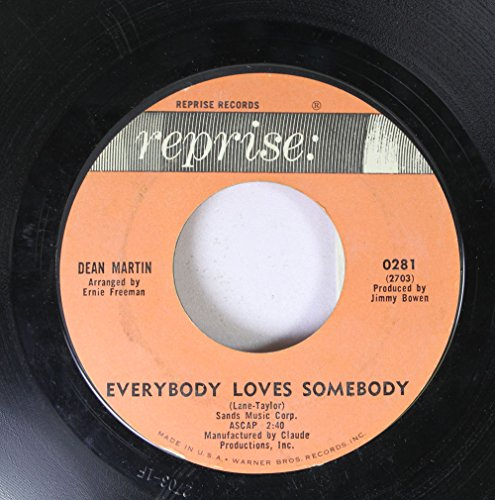 DEAN MARTIN - Dean Martin 45 Rpm Everybody Loves Somebody / A Little Voice - Zortam Music