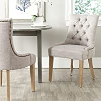 Safavieh Mercer Collection Ashley Side Chair, Grey, Set of 2