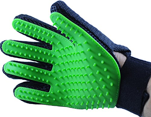 Pet Grooming Glove by Serene Pet: Deshedding Tool for Dogs and Cats Large and Small, Gentle and Efficient Massage for Long and Short Coats, Premium Quality Mitt, Soft Comb to - How Is First Long Shipping Class