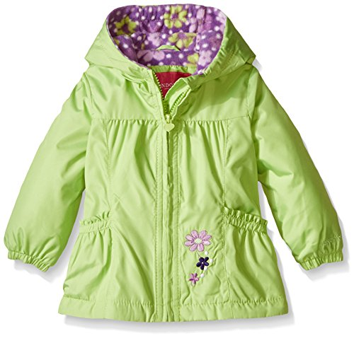 b8caede74cac Galleon - London Fog Baby Girls  Floral Printed Fleece Lined Jacket ...